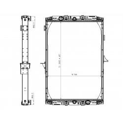 Radiateur eau pour DAF XF 95