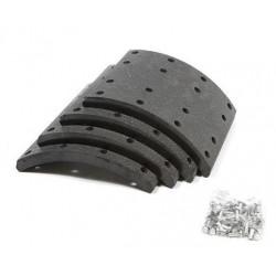 Kit de garnitures de frein à tambour, kit essieu