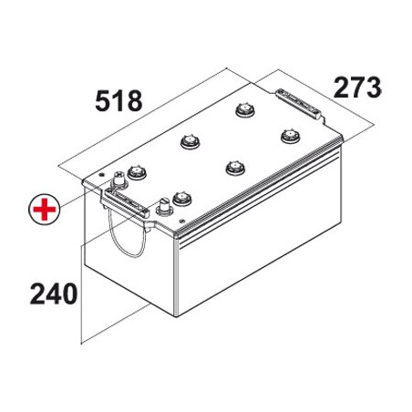 Batterie 225AH 1200(EN)