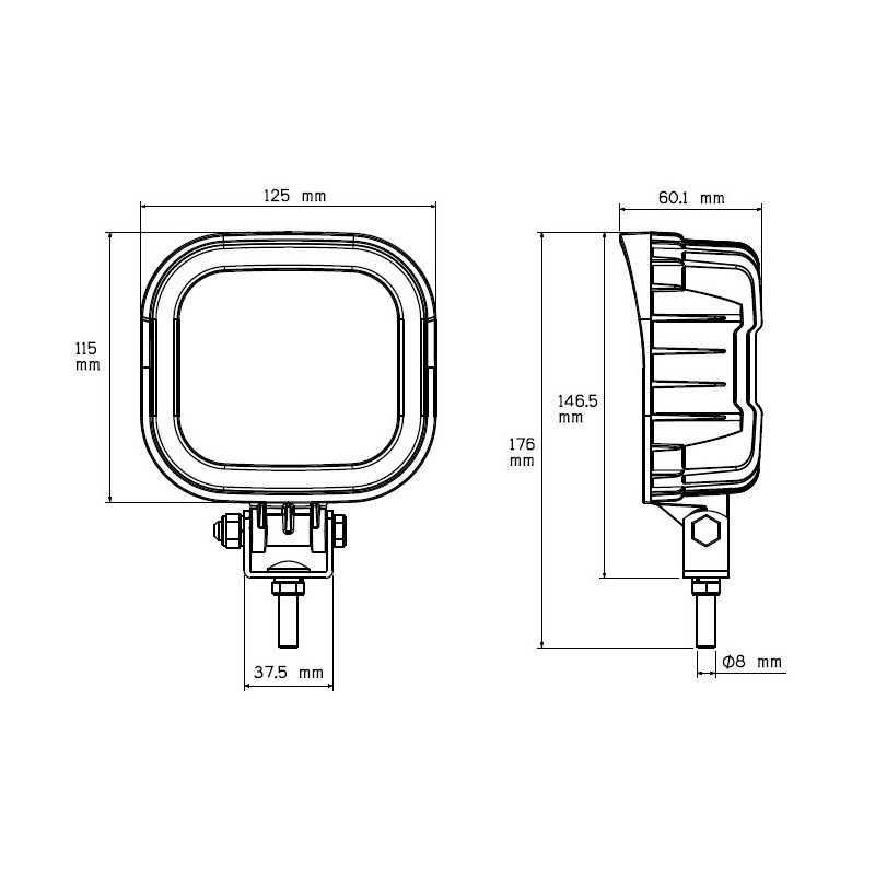 Phare de travail LED 12/36V