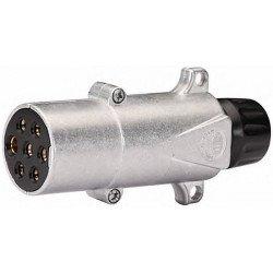 Prise électrique 7 pôles en aluminium
