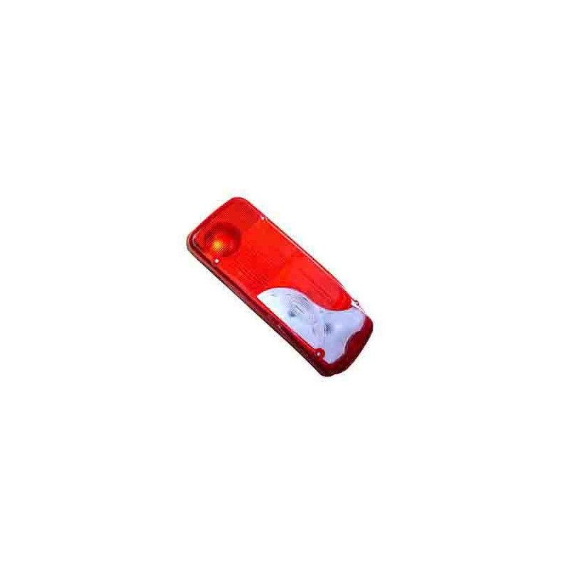 Feu arrière LC8 bleu avec catadioptre, droit