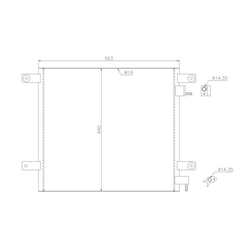 Condenseur climatisation pour Daf 85CF