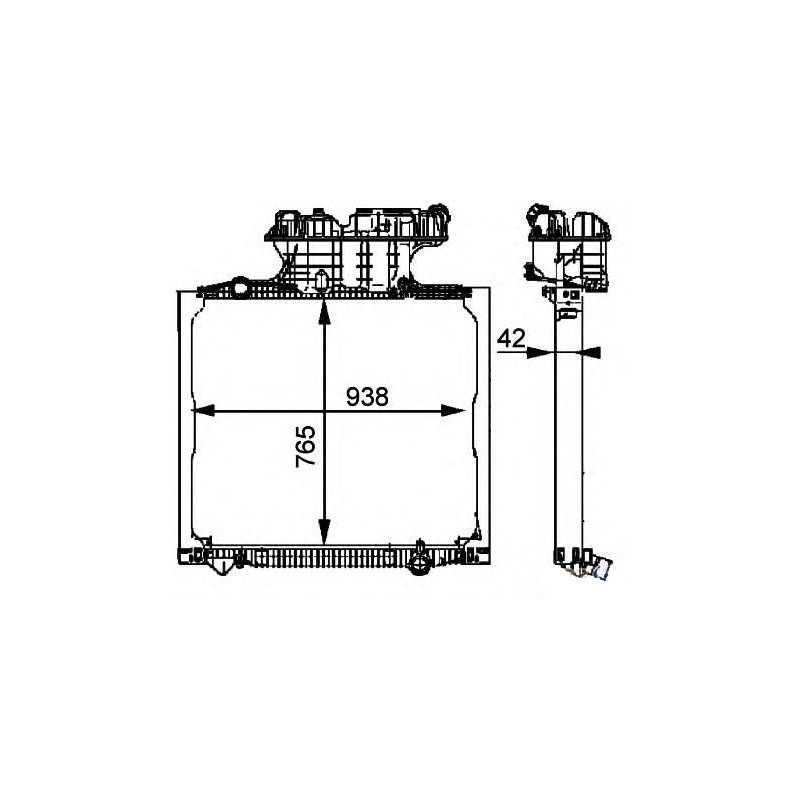 Radiateur eau pour Man TGA / TGS