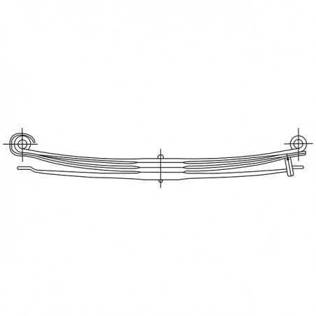 Ressort parabolique AR 4 lames pour Mercedes Benz Actros