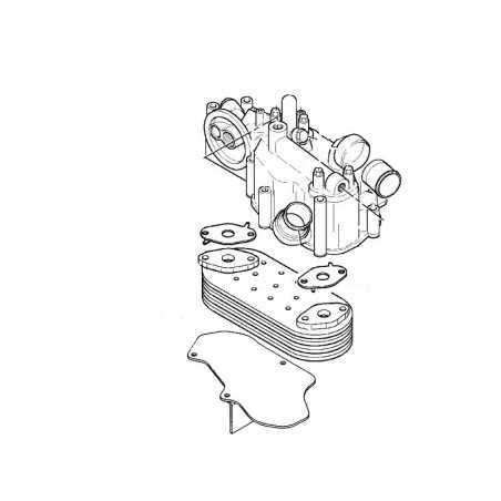 Faisceau échangeur thermique eau-huile pour Renault Premium 270Dci