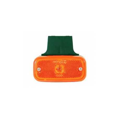 Feu gabarit lateral orange avec support