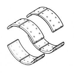 Jeu de garnitures de frein à tambour arrière + Rivets pour Renault Trucks M180