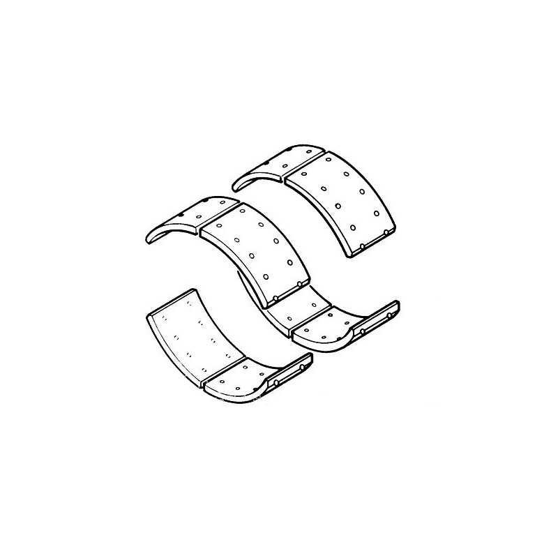 jeu de garnitures de frein tambour arri re rivets pour renault trucks m180. Black Bedroom Furniture Sets. Home Design Ideas