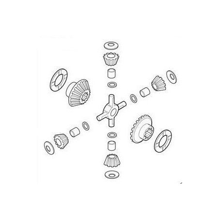 Jeu de satelites collection réparartion différentiel pour Mercedes Benz 2628