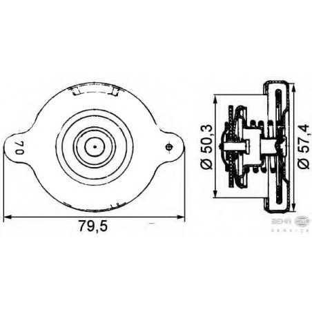 Bouchon de radiateur, avec chaîne pour Mercedes Benz L-Series