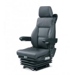 Siège pneumatique, lombaires pneumatiques, commande à gauche, ceinture 3 points, entraxe 230, sans accoudoirs et noir.