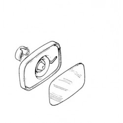 Rétroviseur grand angle dégivrant pour Renault G