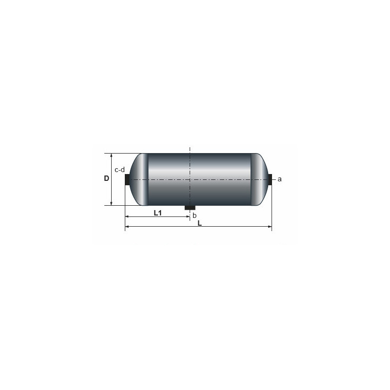 Réservoir air comprimé 30L/246X700,512 pour Iveco 14.152