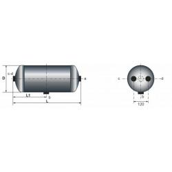 Réservoir acier 20 litres pour Mercedes Benz 1312