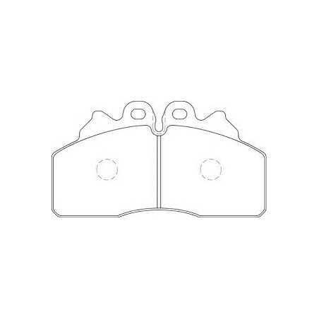 Kit de garnitures de disque de frein pour Iveco Eurocargo