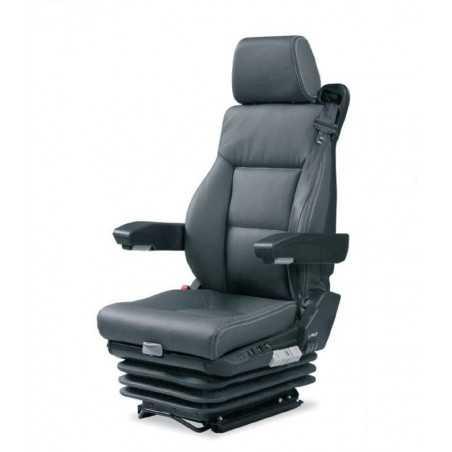 siège pneumatique, commande à gauche, ceinture 3 pts, lombaires pneumatique, tissu, entraxe 216mm et noir