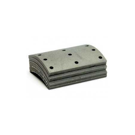 Jeu de segment de frein 140mm + rivet pour Man 26.314
