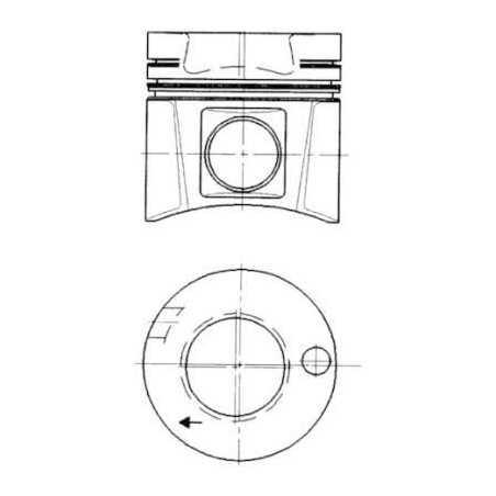Piston, complet avec segments pour Mercedes-Benz SK/MK/NG-Series