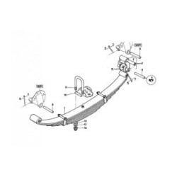 Etrier de ressort AR LG435 + ecrous pour Renault Série G