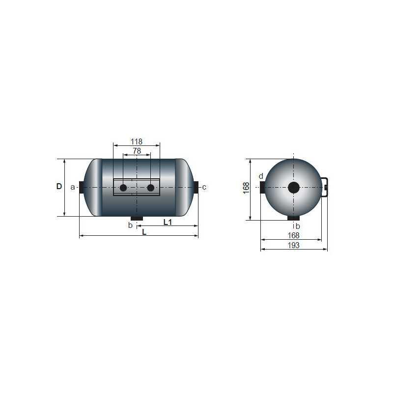 Réservoir d'air 5 Litres pour Iveco EuroTech