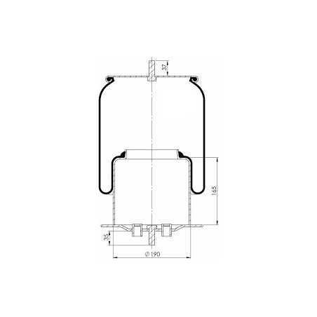 Coussin d'air, avec piston acier pour Iveco Stralis