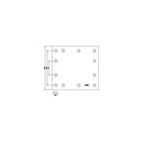 Jeu de garniture de frein + rivets (100) pour IVECO UNIC