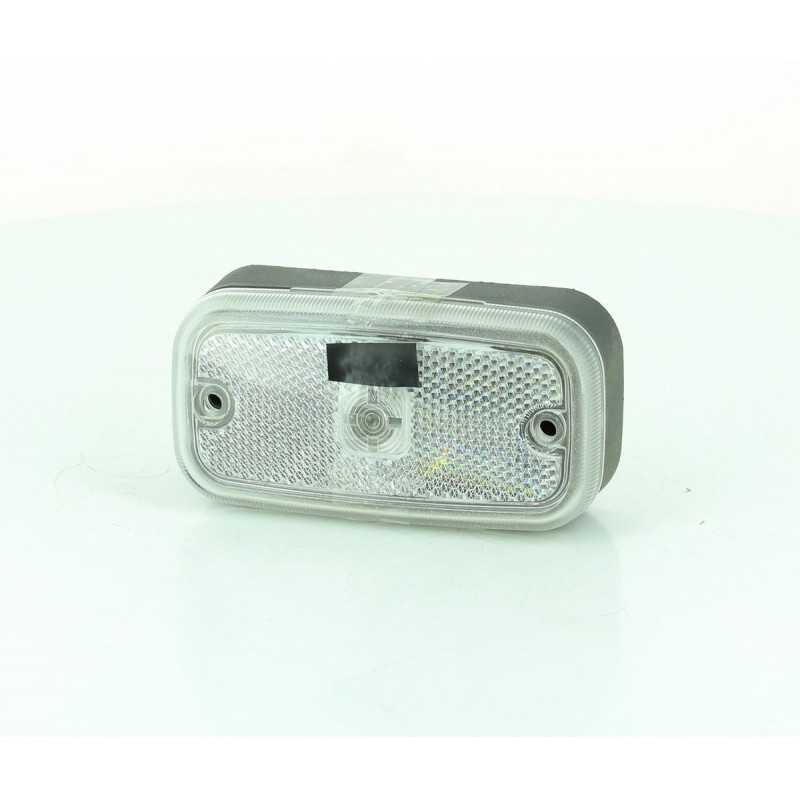 Feu de position avant en applique, avec catadioptre et presse étoupe N°7, cristal
