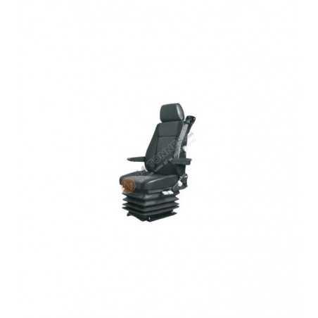 siège pneumatique, lombaires mécanique, sans ceinture, sans accoudoirs, entraxe 216mm et gris.