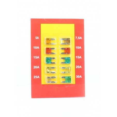Assortiment de 10 fusibles MINI