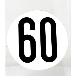 Disque de limitation 60KM/H en Aluminium