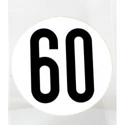 Disque de limitation 60KM/H Adhésif