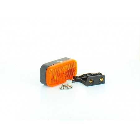 Feu de position latéral avec catadioptre, suspendu droit avec connecteur intégré