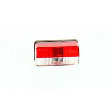 Feu latéral fixe cristal/rouge 2 lampes, vertical