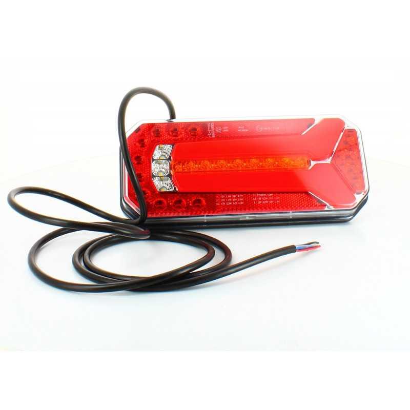Feu arrière LED rectangle universel câblé