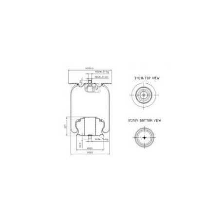 Coussin d'air, avec piston acier pour Iveco Bus Civis, Cristalis