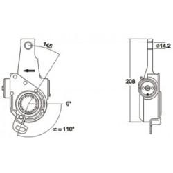 Levier régleur, automatique pour MAN F/M/L 2000, F/M/G 90, F 7/8/9