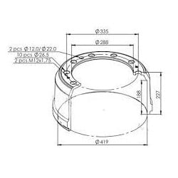 Tambour de frein pour Remorque Gigant/SAE/SMB