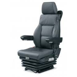 siège pneumatique, commande à droite, ceinture 3 pts lombaires pneumatique, cuir, entraxe 230mm et noir