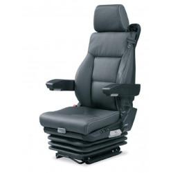 siège pneumatique, commande à gauche, sans ceinture 3 pts lombaires mécanique, cuir, entraxe 230mm et noir
