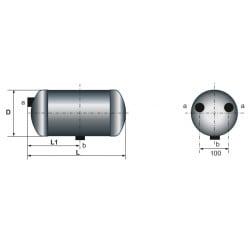 Reservoir d'air 8 Litres pour Renault Trucks S100