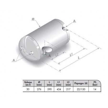 Reservoir d'air 30 L pour Volvo FH