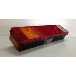 Feu arrière rectangulaire 7 fonctions DAF, avec catadioptre, feu de position latéral et éclaireur de plaque, gauche