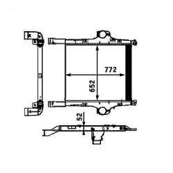 Radiateur air / intercooler pour Iveco