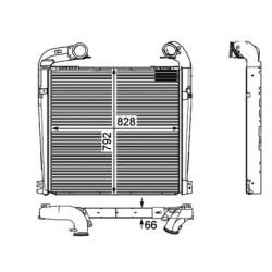 Radiateur air / intercooler pour Scania